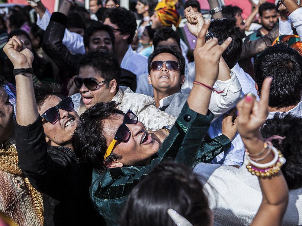 Mumbai Mirror, 2013. People celebrating during the wedding ceremony.